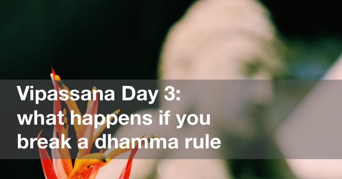 Vipassana Day 3 in Yangon Burma (Rangoon, Myanmar)